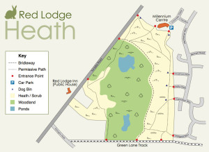 Red Lodge Heath Map